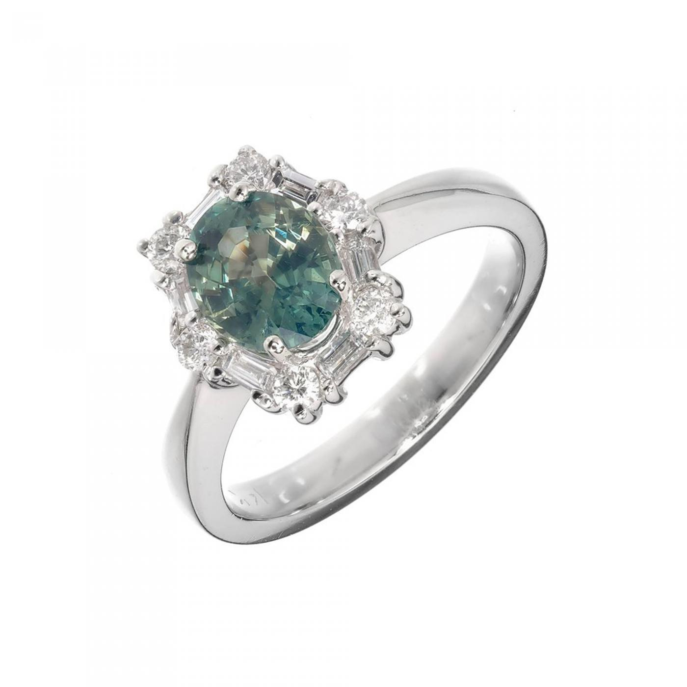 fullxfull gold cushion green halo rings rose peacock eidelprecious sapphire blue engagement by diamond listing ring il