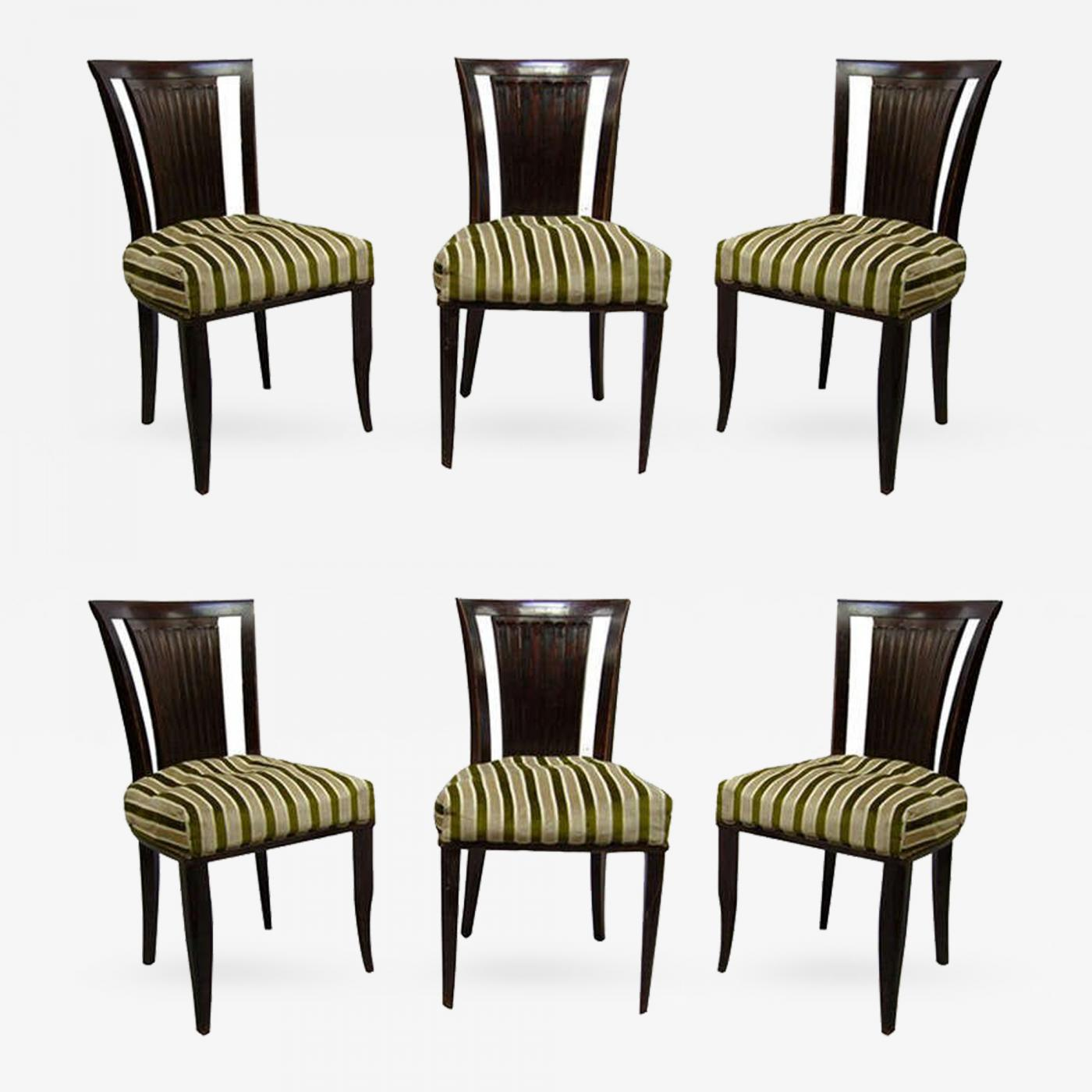 Listings / Furniture / Seating / Dining Chairs · Gaston Poisson Set Of Six French  Art Deco ...