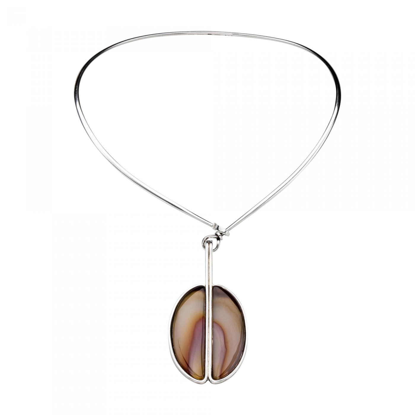 Georg jensen georg jensen torun necklace with framed banded agate listings jewelry necklaces pendants drop pendant georg jensen aloadofball Images