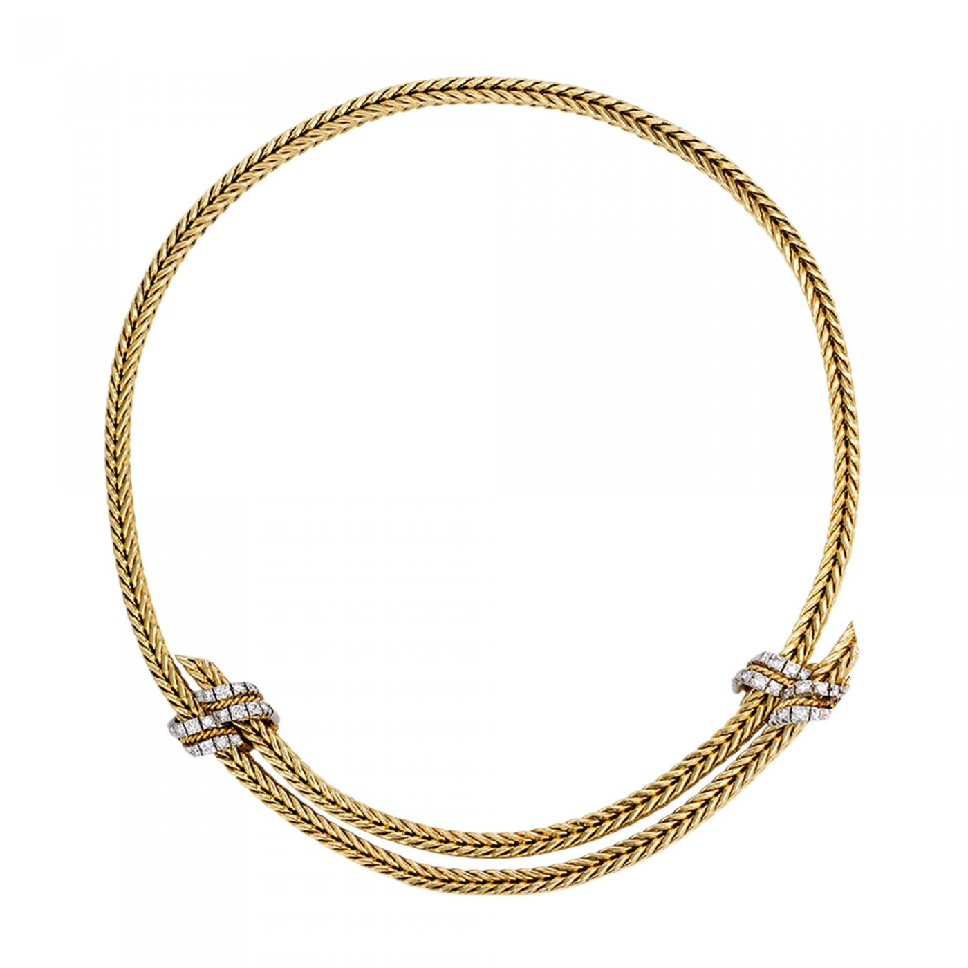 Hermès - 1950s Adjustable Gold and Diamond Necklace, Georges L ...