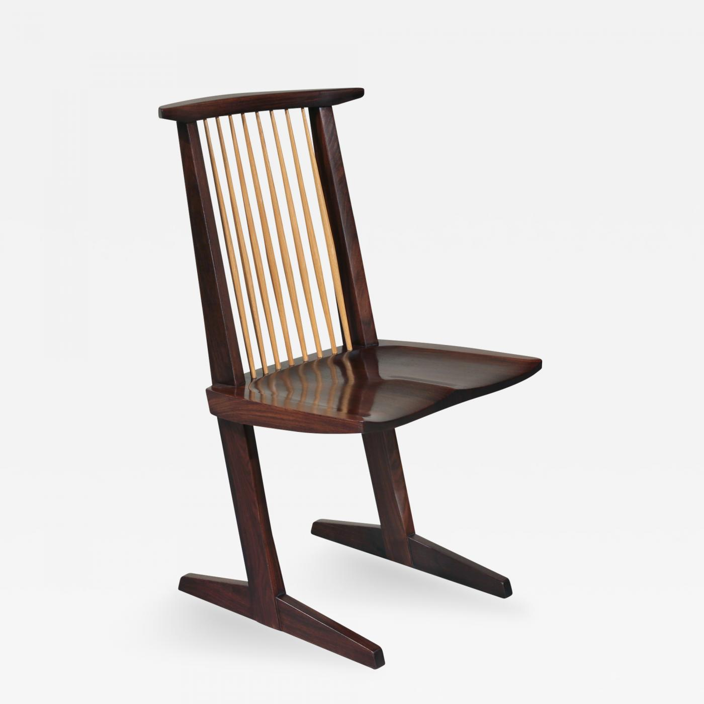 About A Chair 12 Side Chair.George Nakashima 12 Extremely Rare East Indian Rosewood Conoid Dining Chairs 1971 2