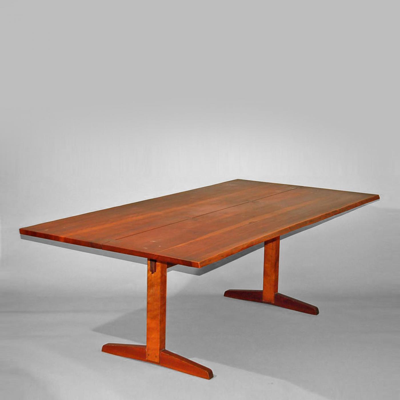 George Nakashima Cherry Trestle Dining Table 1958