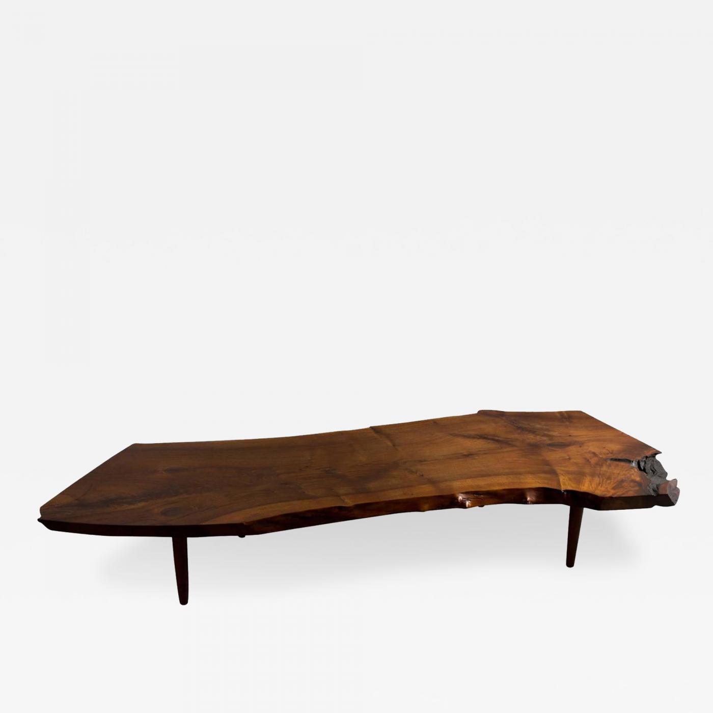 george nakashima george nakashima coffee table in walnut