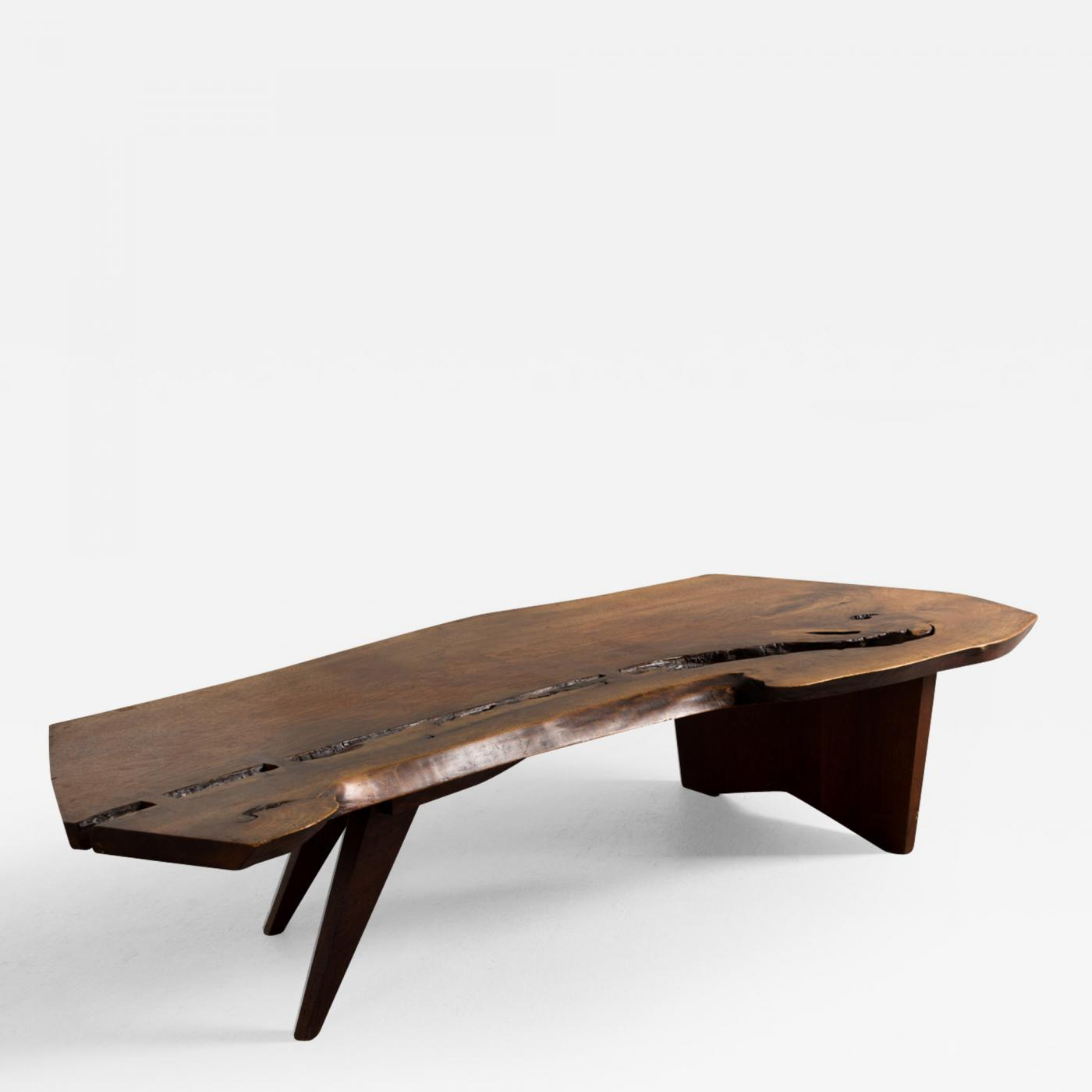Listings / Furniture / Tables / Center Tables · George Nakashima George  Nakashima Walnut Coffee Table