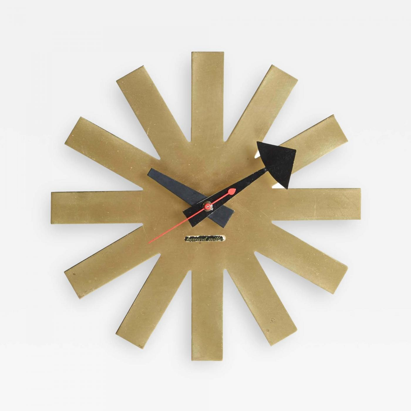 george nelson  asterisk clock by george nelson circa  - listings  decorative arts  clocks  wall clocks · george nelson