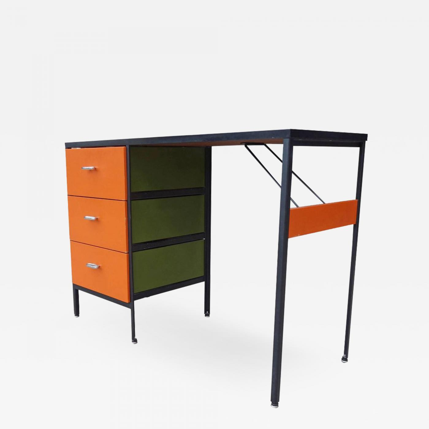 George Nelson - Midcentury Steel Frame Desk by George Nelson for ...