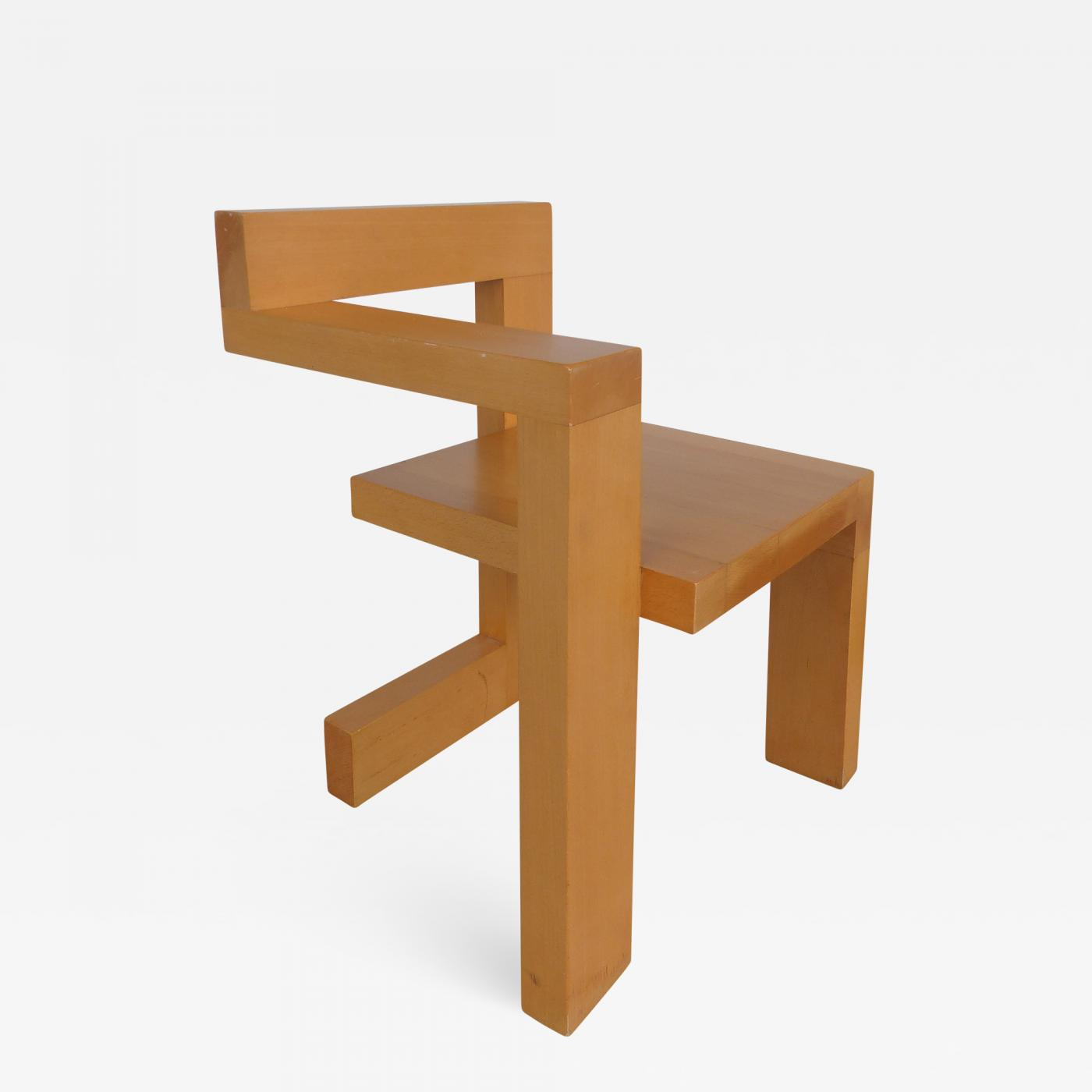 Gerrit Rietveld - Sculptural Modern Constructivist Chair Custom Made ...
