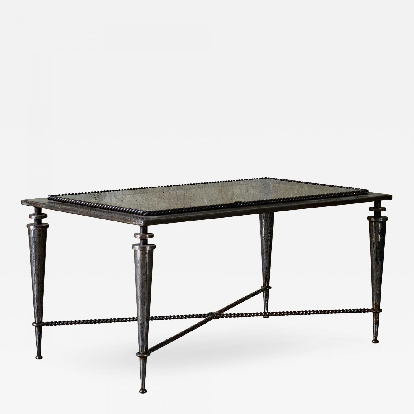Gilbert Poillerat Gilbert Poillerat Iron And Glass Coffee Table