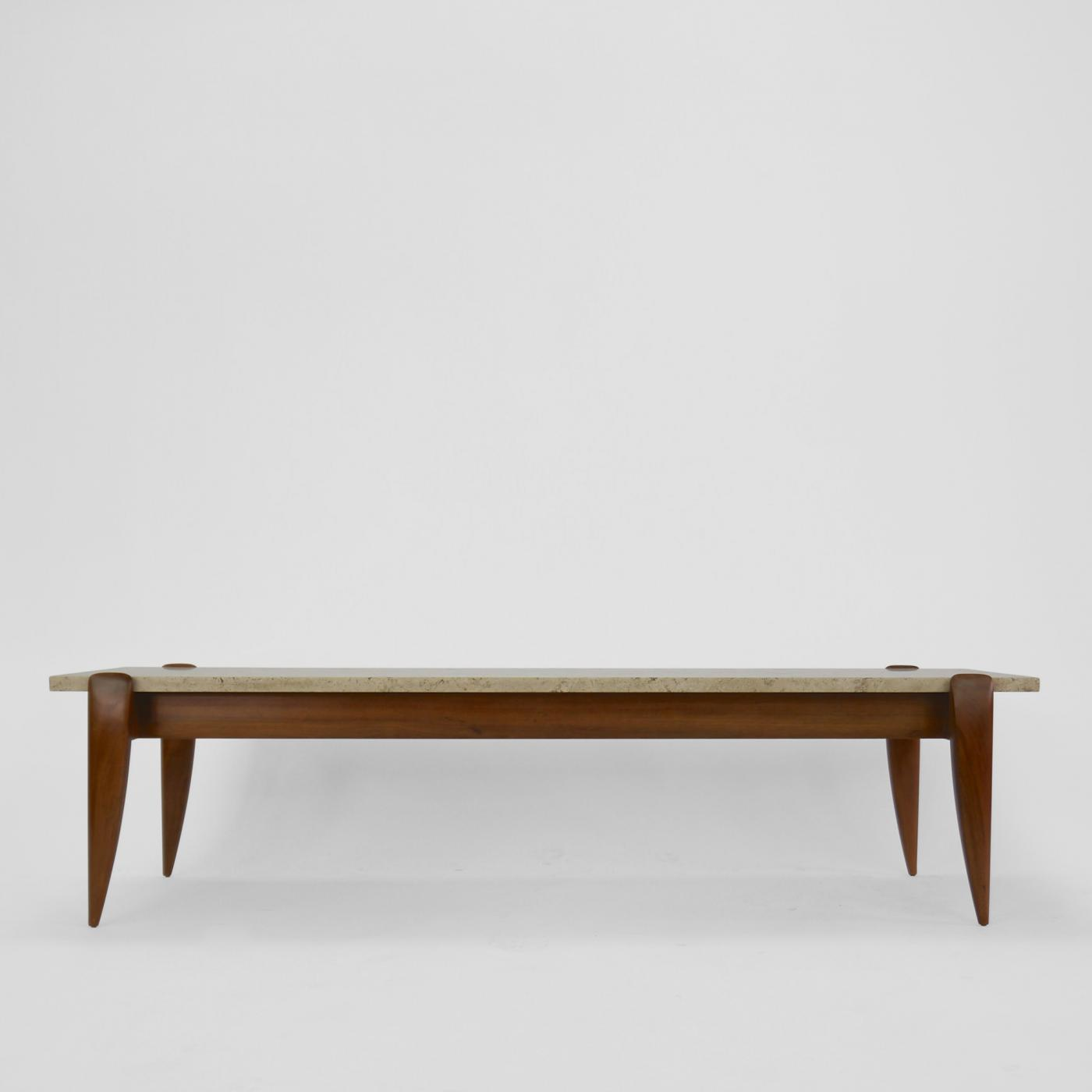 Gio ponti gio ponti travertine coffee table for singer and sons listings furniture tables coffee tables geotapseo Image collections