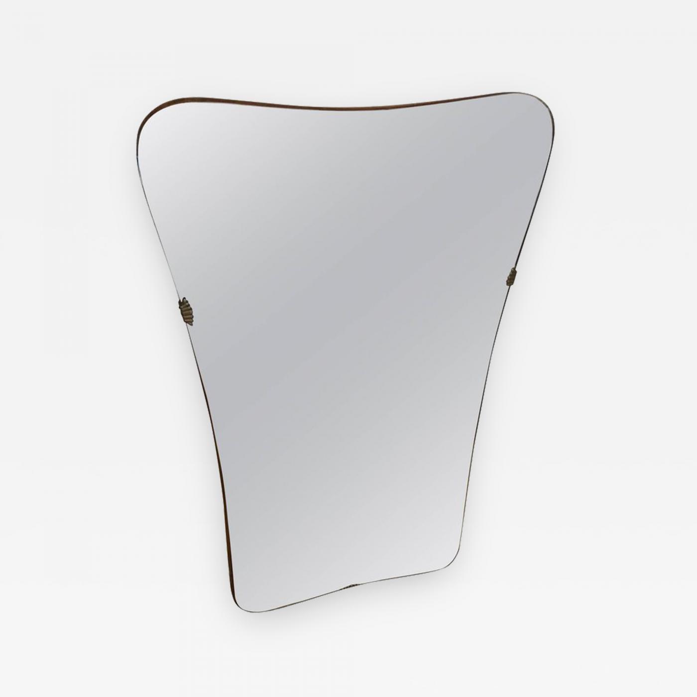 Gio Ponti Italian Mid Century Modern Wall Mirror In The Style Of Gio Ponti