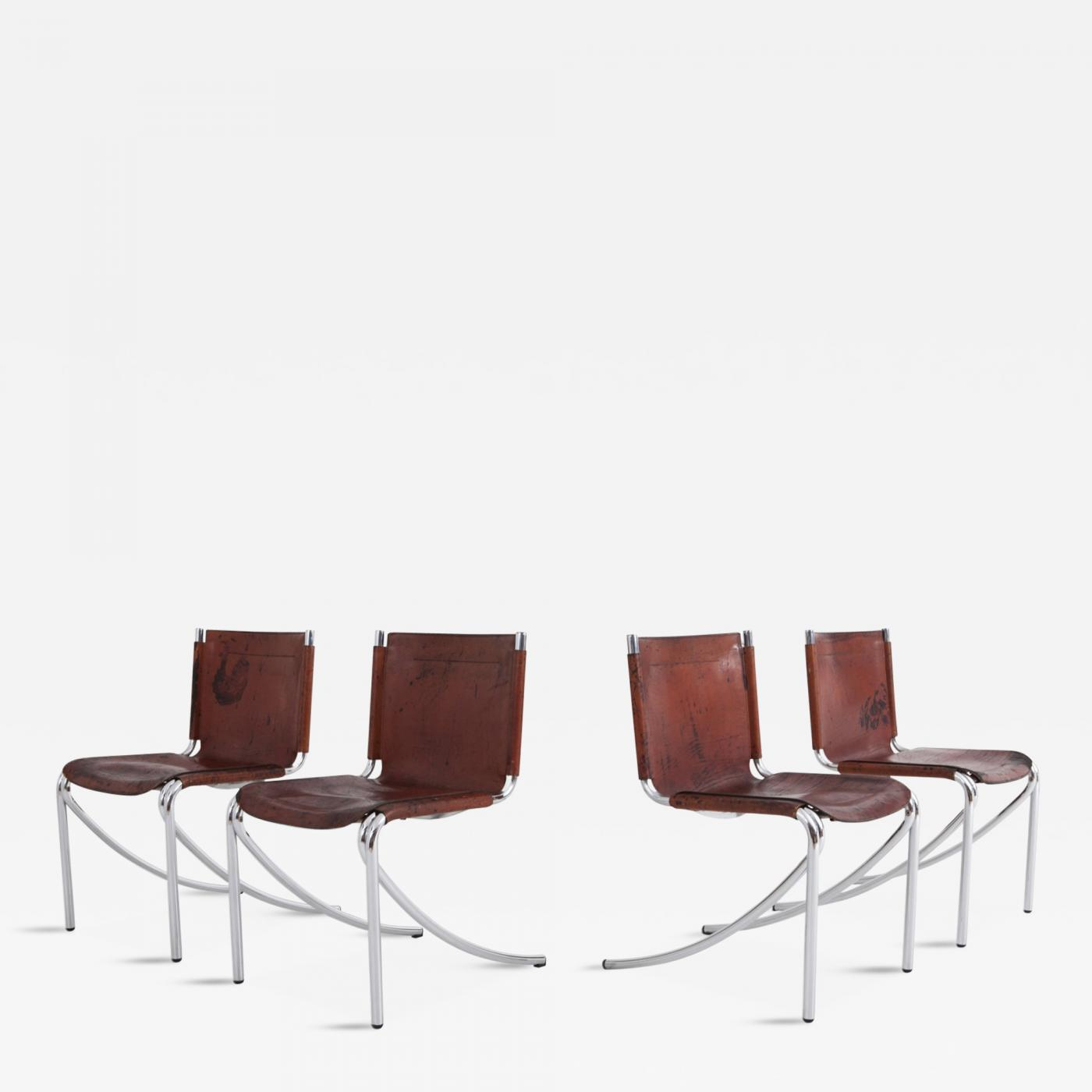 Prime Giotto Stoppino Patinated Red Leather And Chrome Vintage Camellatalisay Diy Chair Ideas Camellatalisaycom