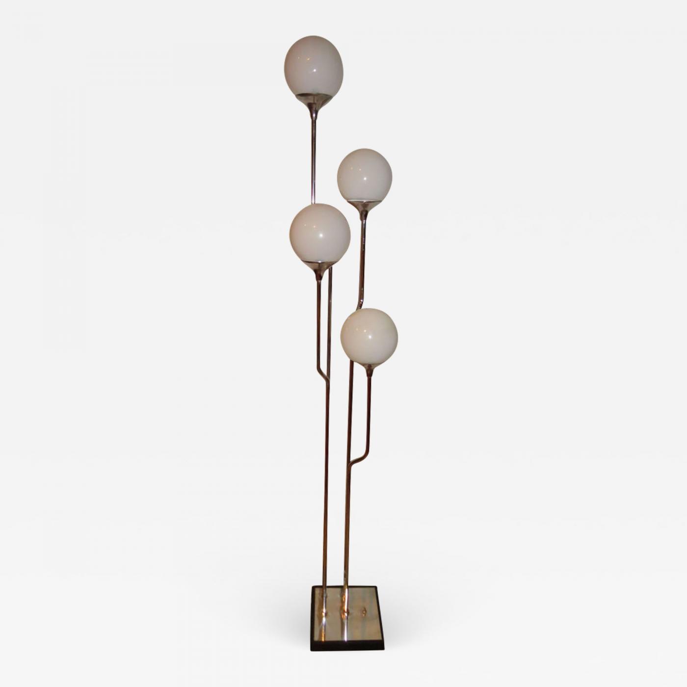 Goffredo Reggiani Stunning 1960s Italian Goffredo Reggiani Chrome Floor Lamp Mid Century Modern