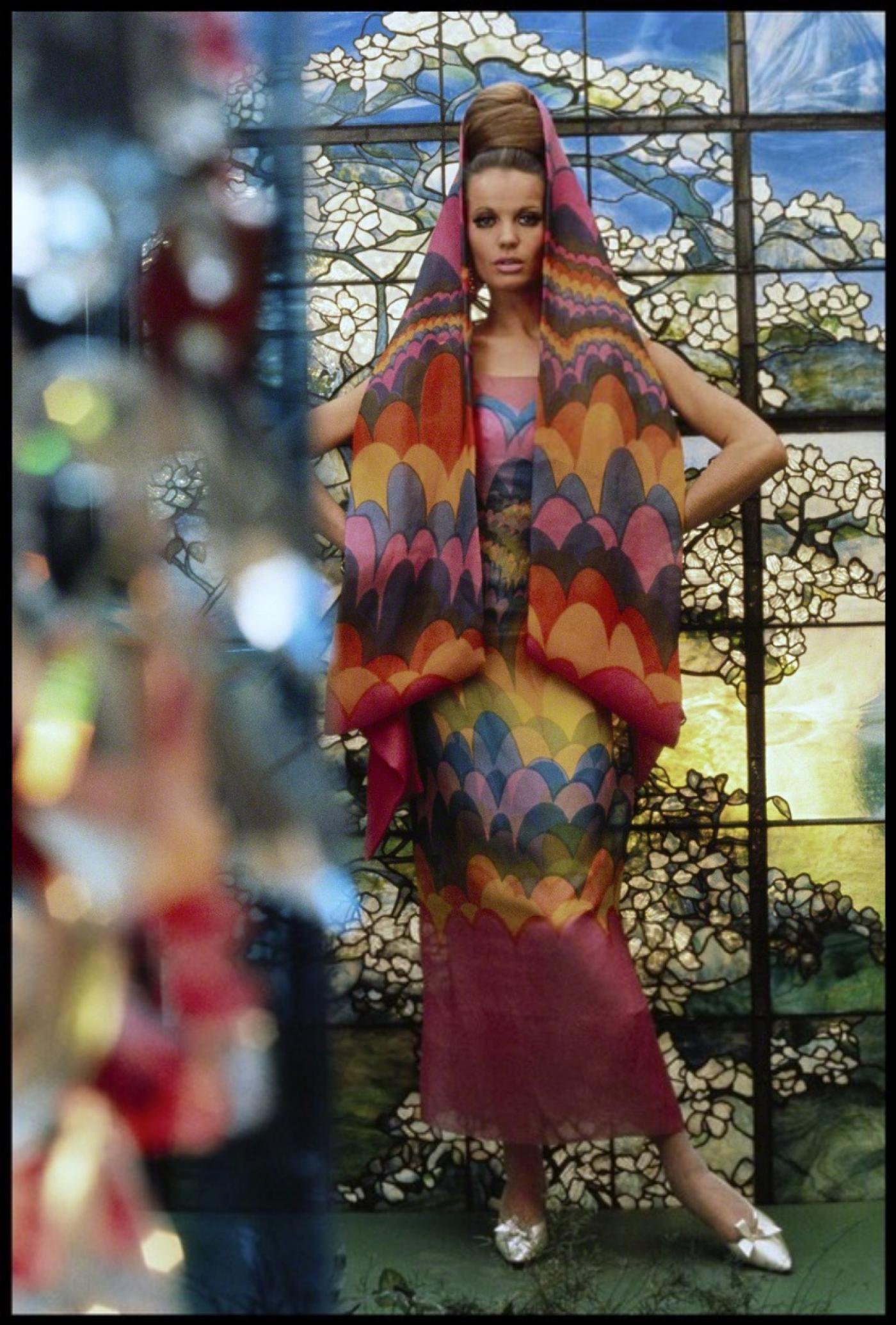 Gordon Parks Veruschka Models Dress By Pauline Trig 232 Re
