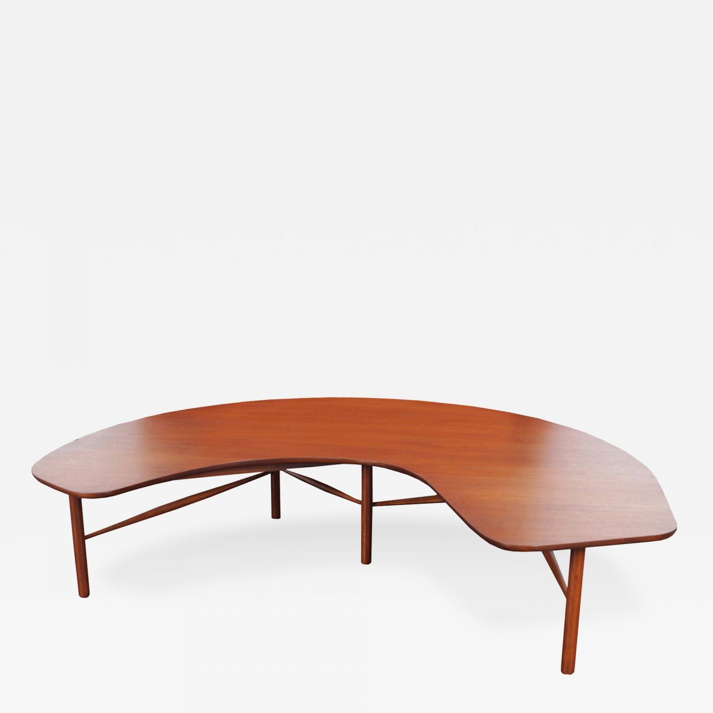 "Greta Grossman Vintage ""Crescent Moon"" Coffee Table by Greta M"