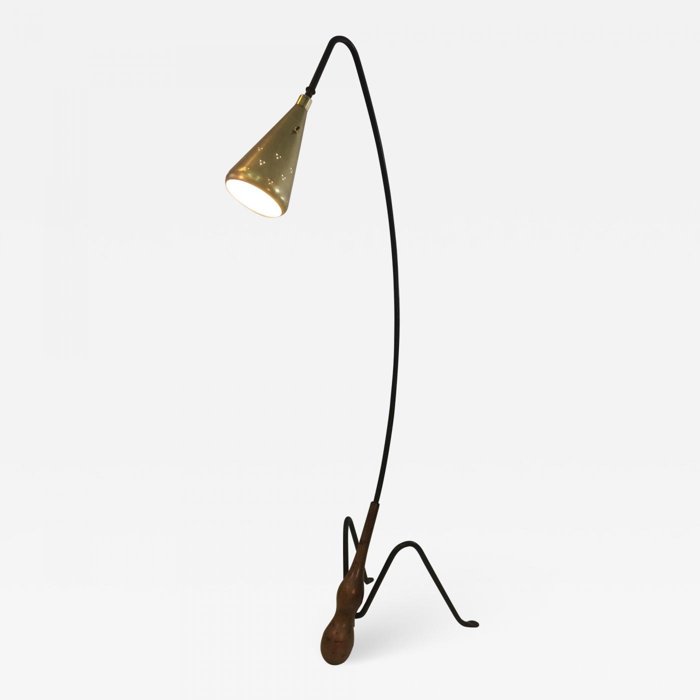 Greta Magnusson Grossman Superb Mid Century Modernist Floor Lamp Attributed To Greta Grossman