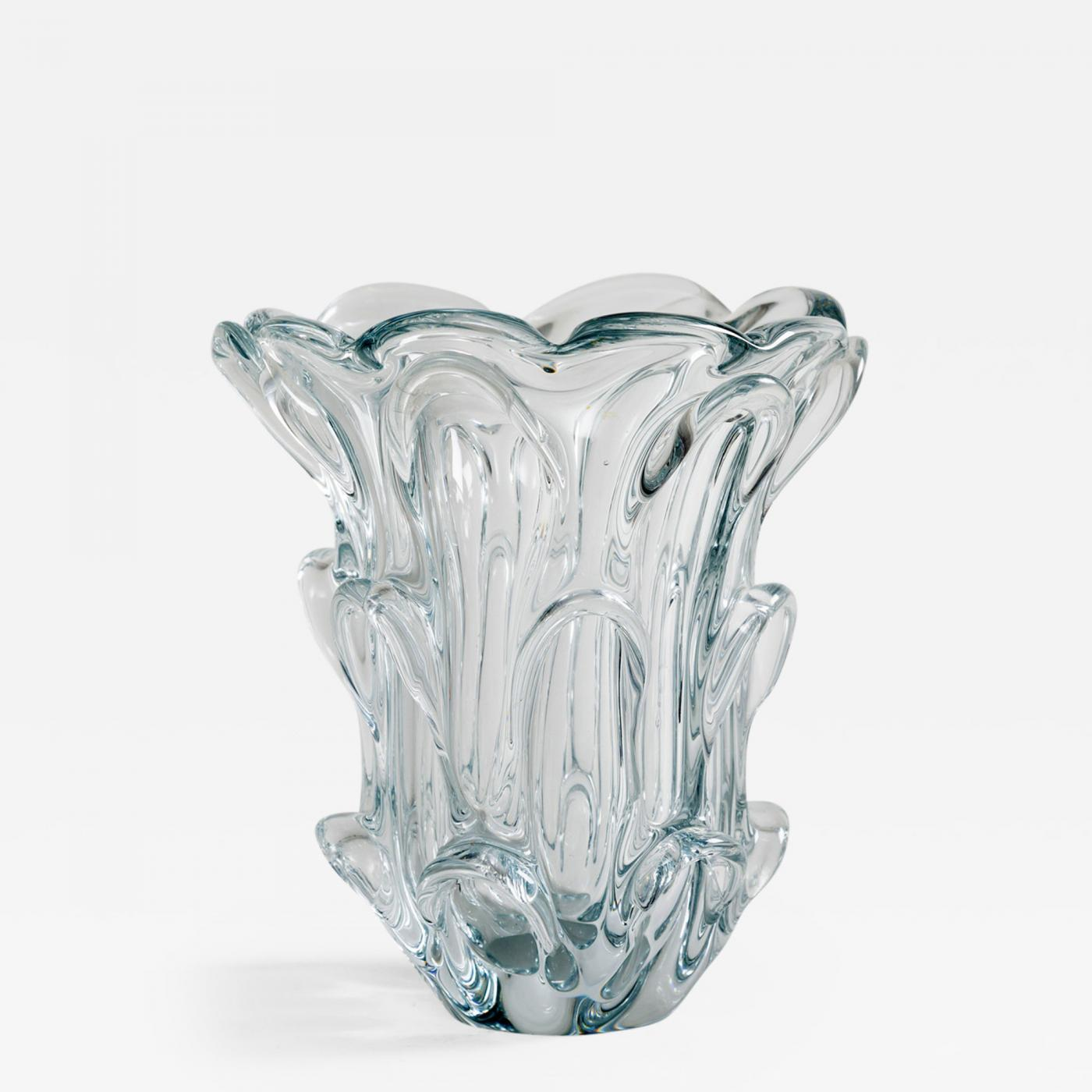 Guido bon val st lambert crystal glass vase by guido bon listings decorative arts objects vases jars urns reviewsmspy