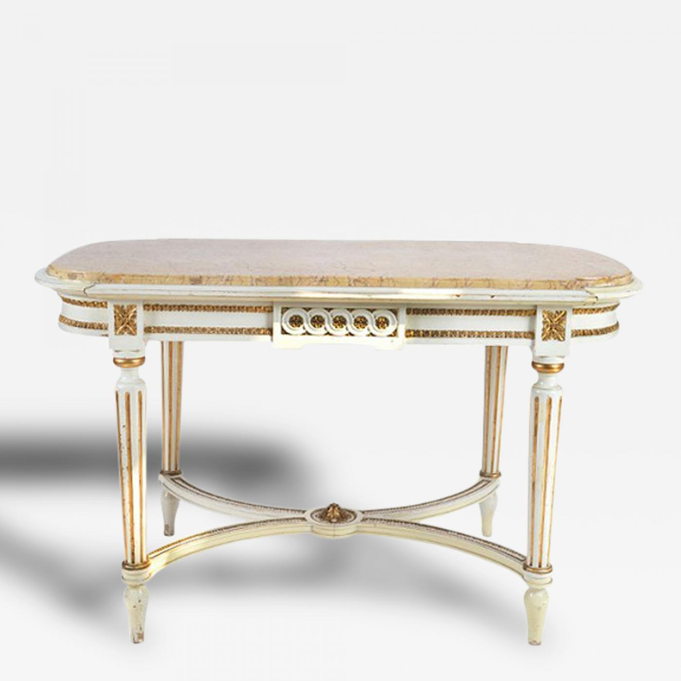 Marble Coffee Table Houston: Gustavian Period Tea-Coffee Marble Top Table, 19th Century