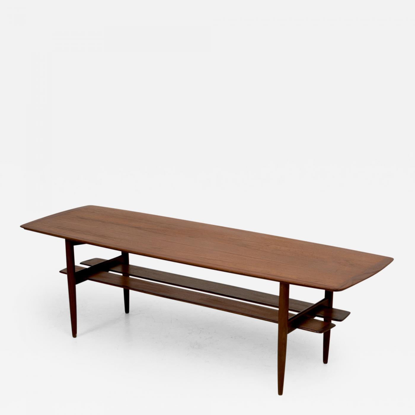 H W Klein Teak Coffee Table by H W Klein for Bramin Mobler