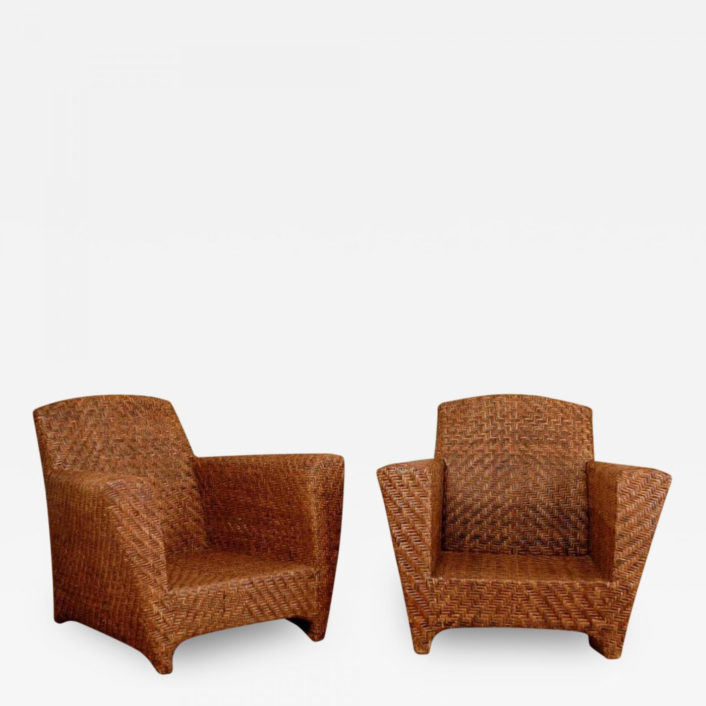 Vintage Rattan Club Chairs Collection Of Solutions Drexel
