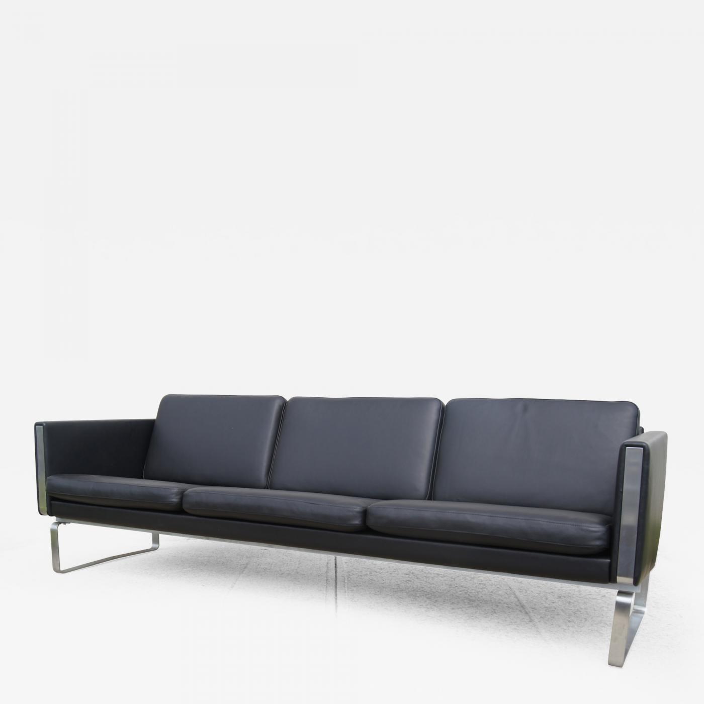 Hans J Wegner CH103 Leather Sofa by Hans Wegner for Carl Hansen