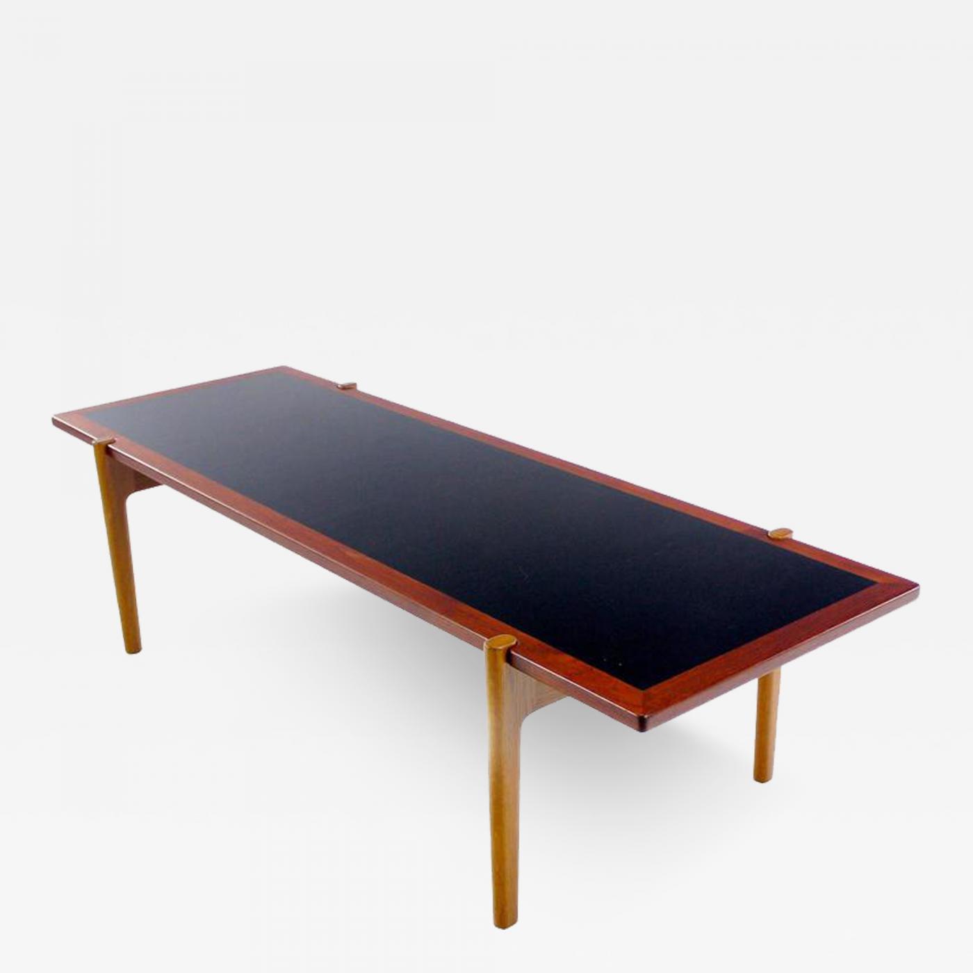 Hans Wegner Danish Modern Teak Oak Reversible Coffee Table Designed By Hans Wegner