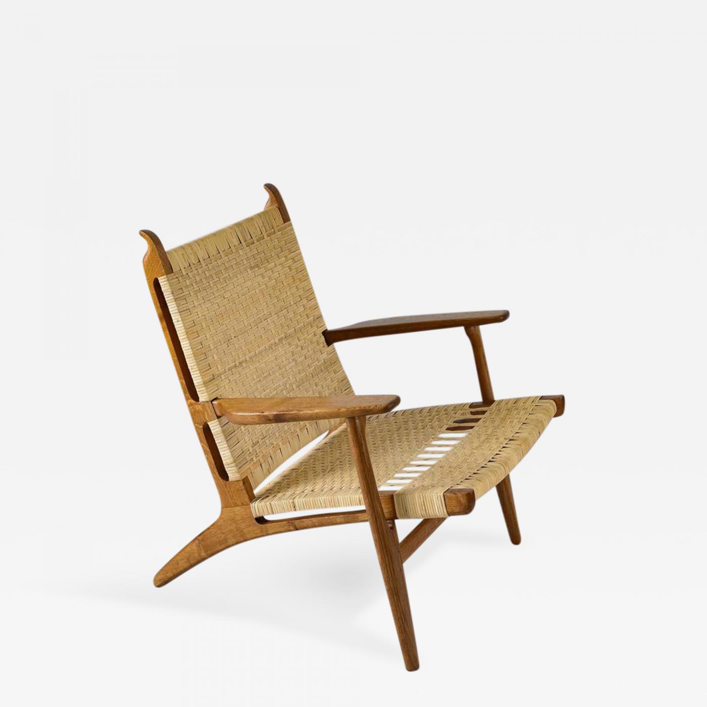 hans wegner hans wegner ch 27 lounge chair. Black Bedroom Furniture Sets. Home Design Ideas