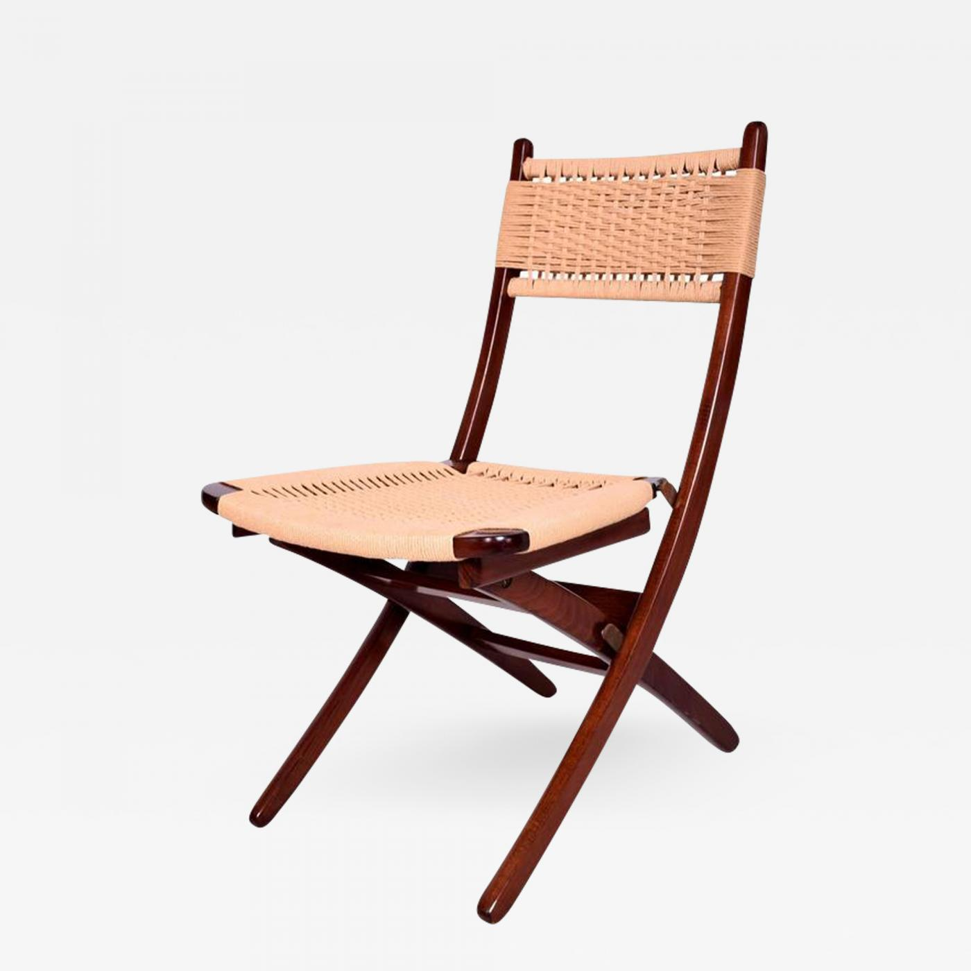 hans wegner mid century danish modern rope folding chair rh incollect com modern rope swing chair Bungee Chair
