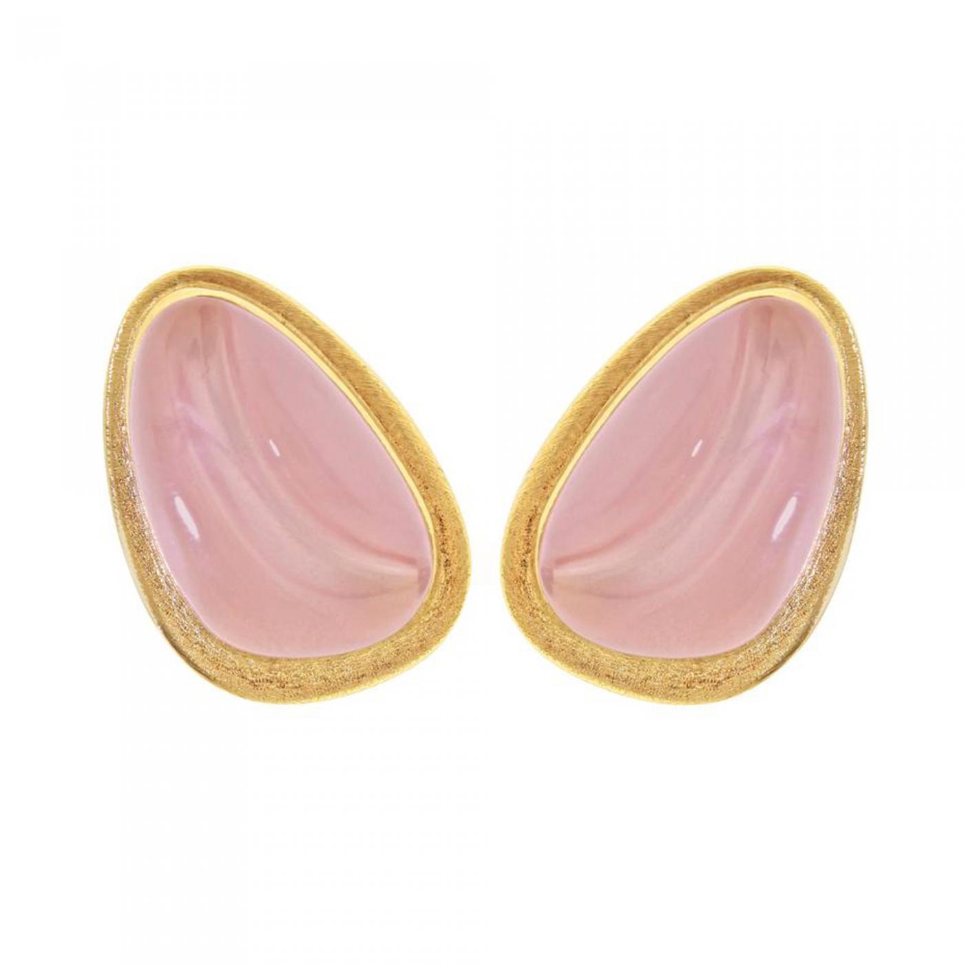 Haroldo Burle-Marx - Burle Marx Forma Livre Rose Quartz Earrings