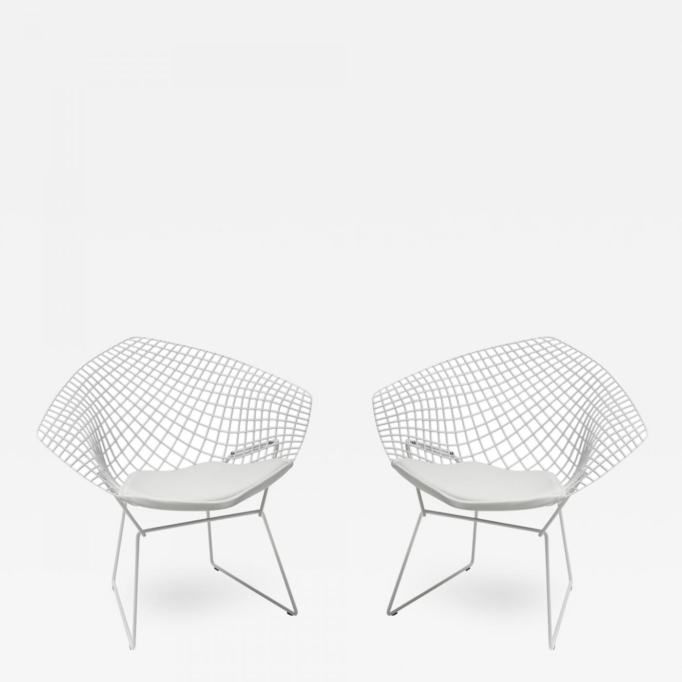 Brilliant Harry Bertoia Pair Of Diamond Lounge Chairs By Harry Bertoia For Knoll Alphanode Cool Chair Designs And Ideas Alphanodeonline