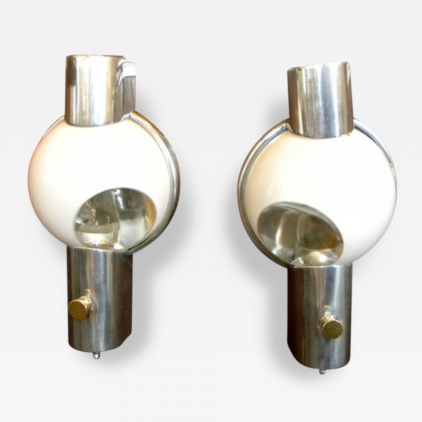 Henry Dreyfuss Pair of Art Deco Streamline Wall Sconces by