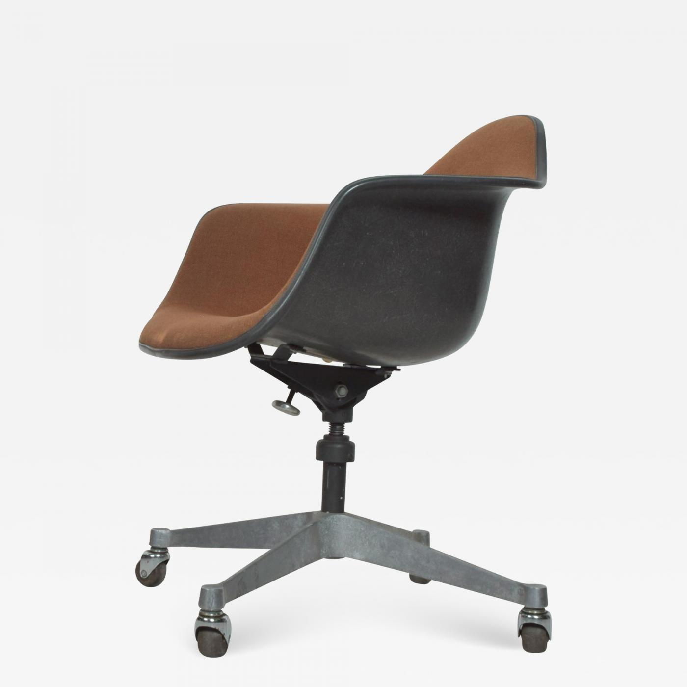 Herman Miller Herman Miller Eames Bucket Office Chair With Casters Mid Century Modern
