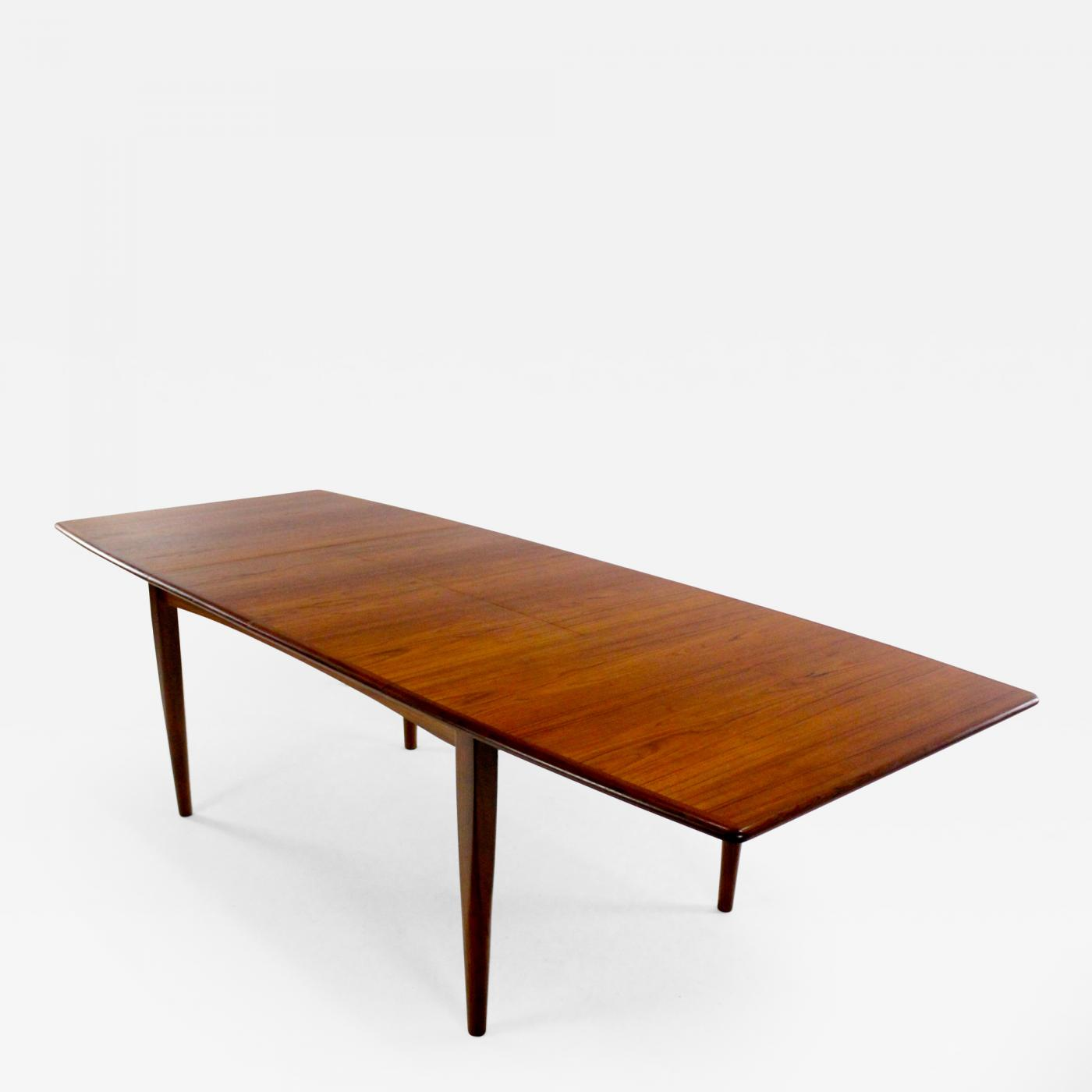 Ib KofodLarsen Danish Modern Butterfly Leaf Teak Dining Table - Teak dining table with leaf
