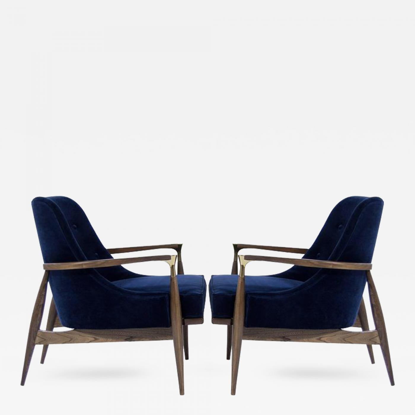 This sculptural pair of lounge chairs by ib kofod larsen is no longer - Listings Furniture Seating Armchairs Ib Kofod Larsen Danish Modern Lounge