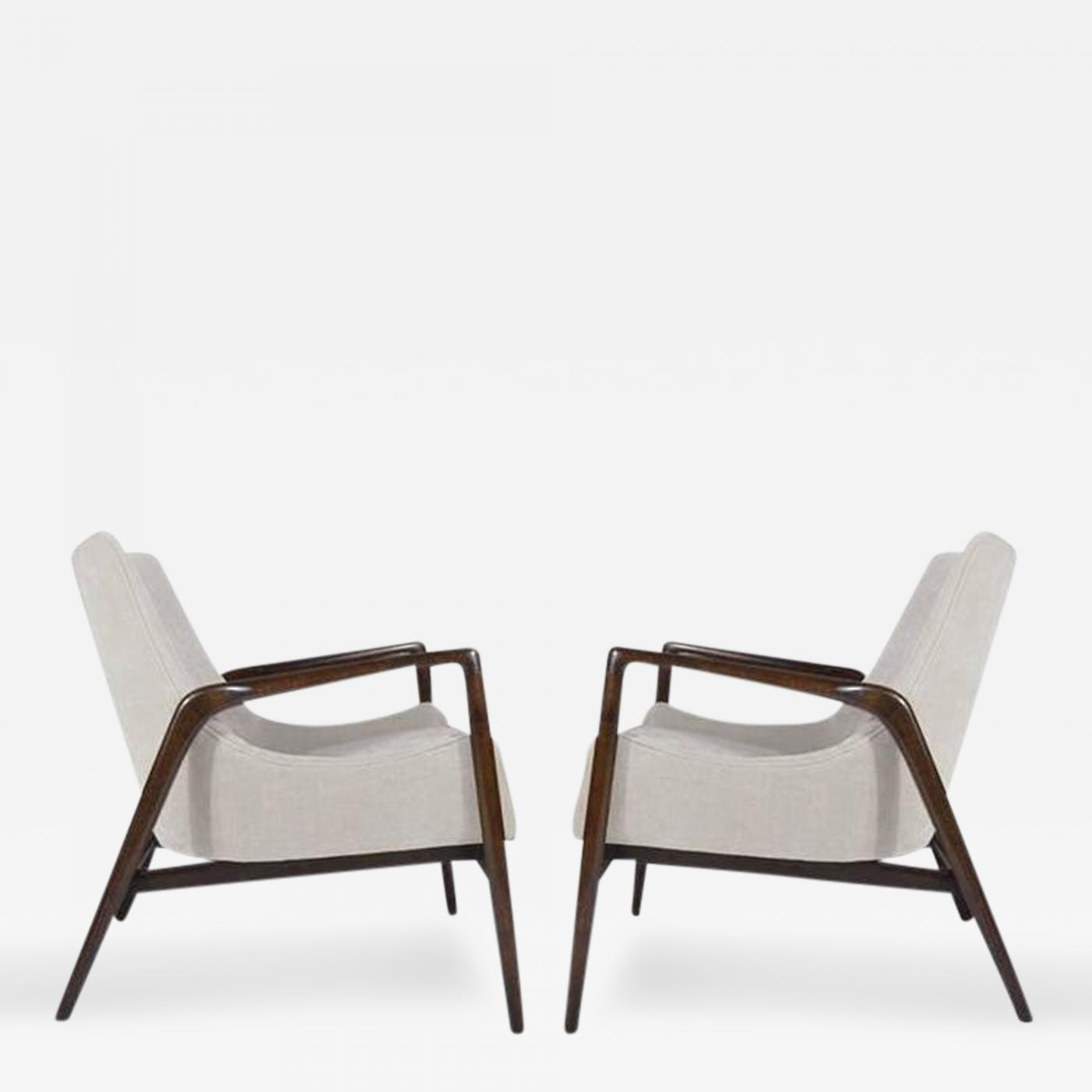 This sculptural pair of lounge chairs by ib kofod larsen is no longer - Listings Furniture Seating Armchairs Ib Kofod Larsen Pair Of Easy Lounge