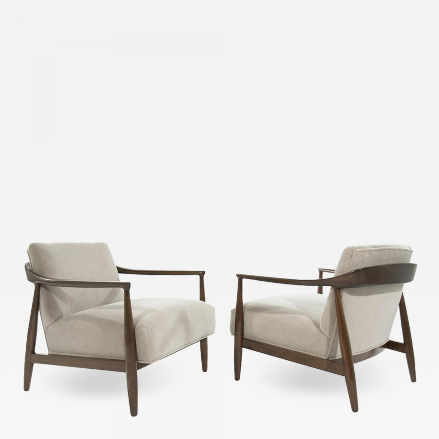 Superb Ib Kofod Larsen Sculptural Danish Modern Lounge Chairs 1950S Inzonedesignstudio Interior Chair Design Inzonedesignstudiocom