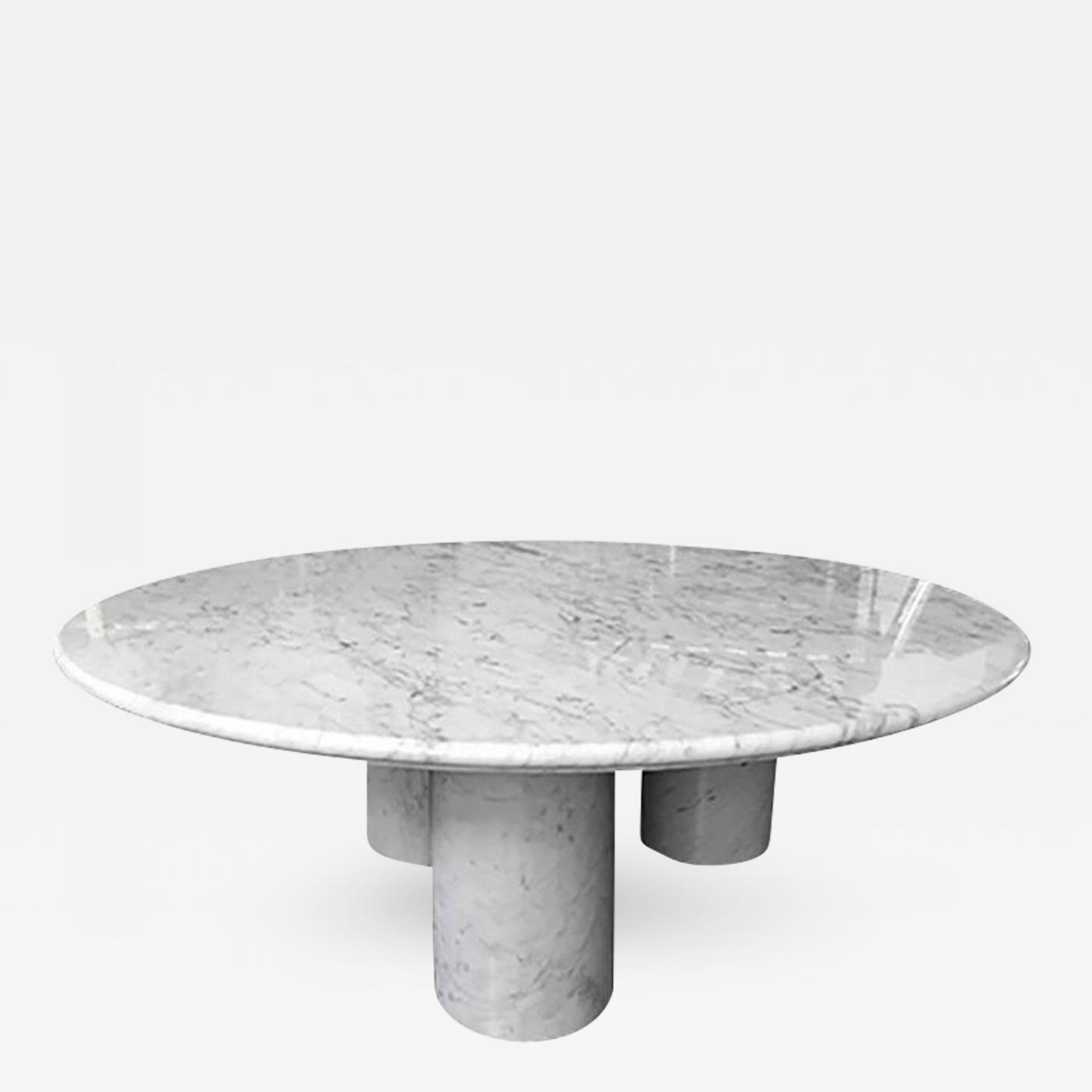 Mario Bellini Il Colonnato Coffee Table In Carrera Marble By - Carrera marble coffee table