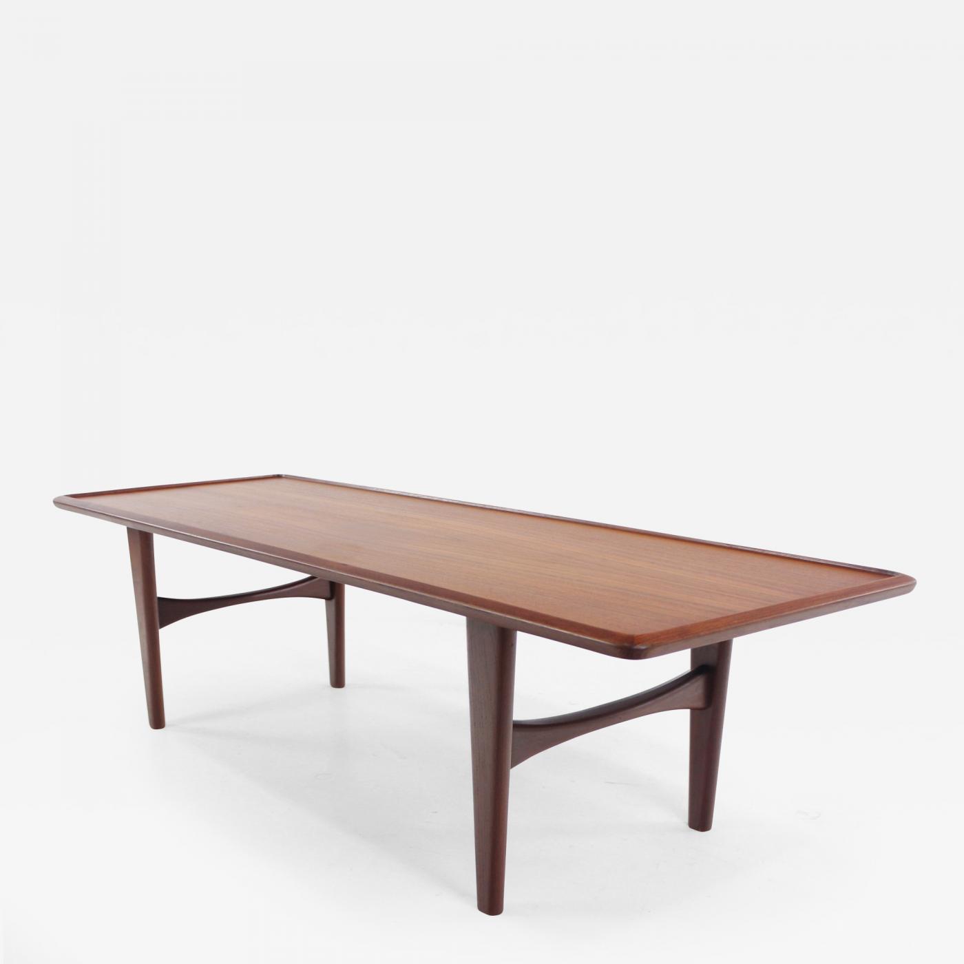 Danish Teak Side Table.Illum Wikkelso Rare Danish Modern Teak Coffee Table Designed By Illum Wikkelso