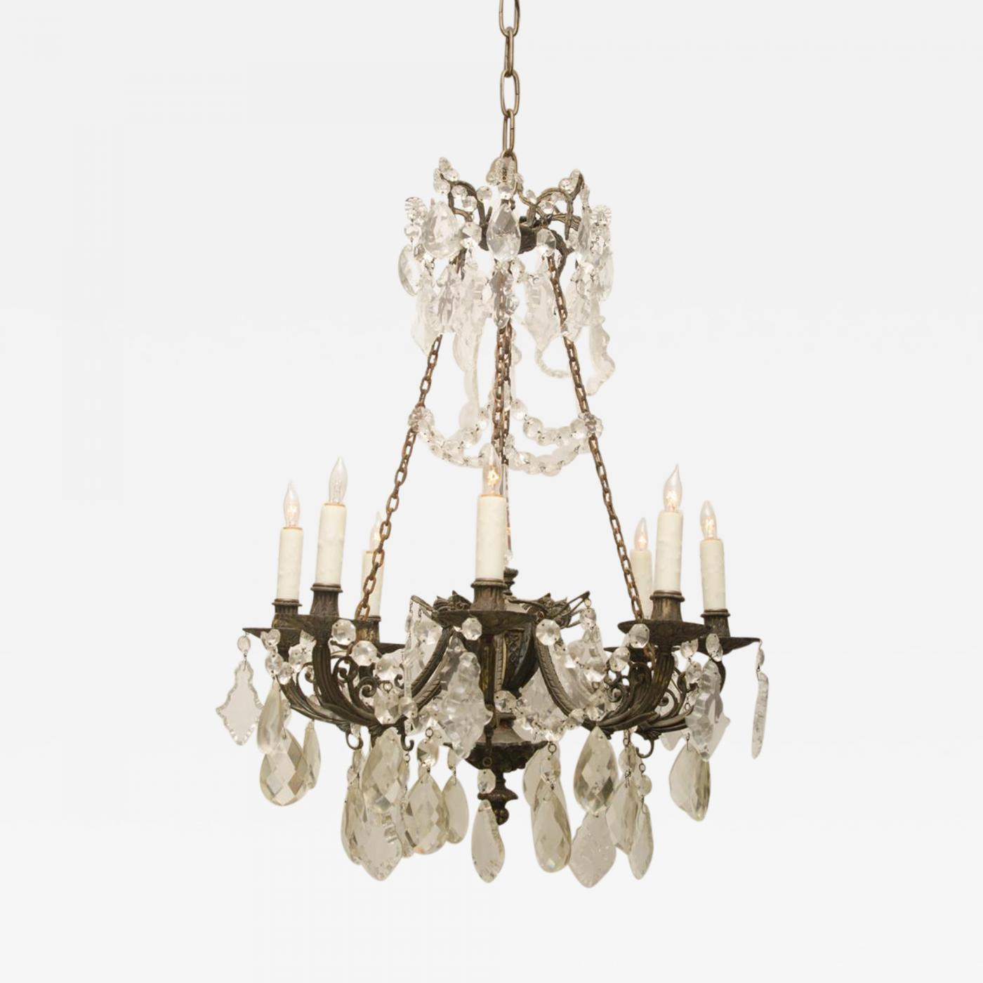 Iron and crystal converted gas light chandelier listings furniture lighting chandeliers and pendants iron and crystal converted gas light chandelier aloadofball Choice Image