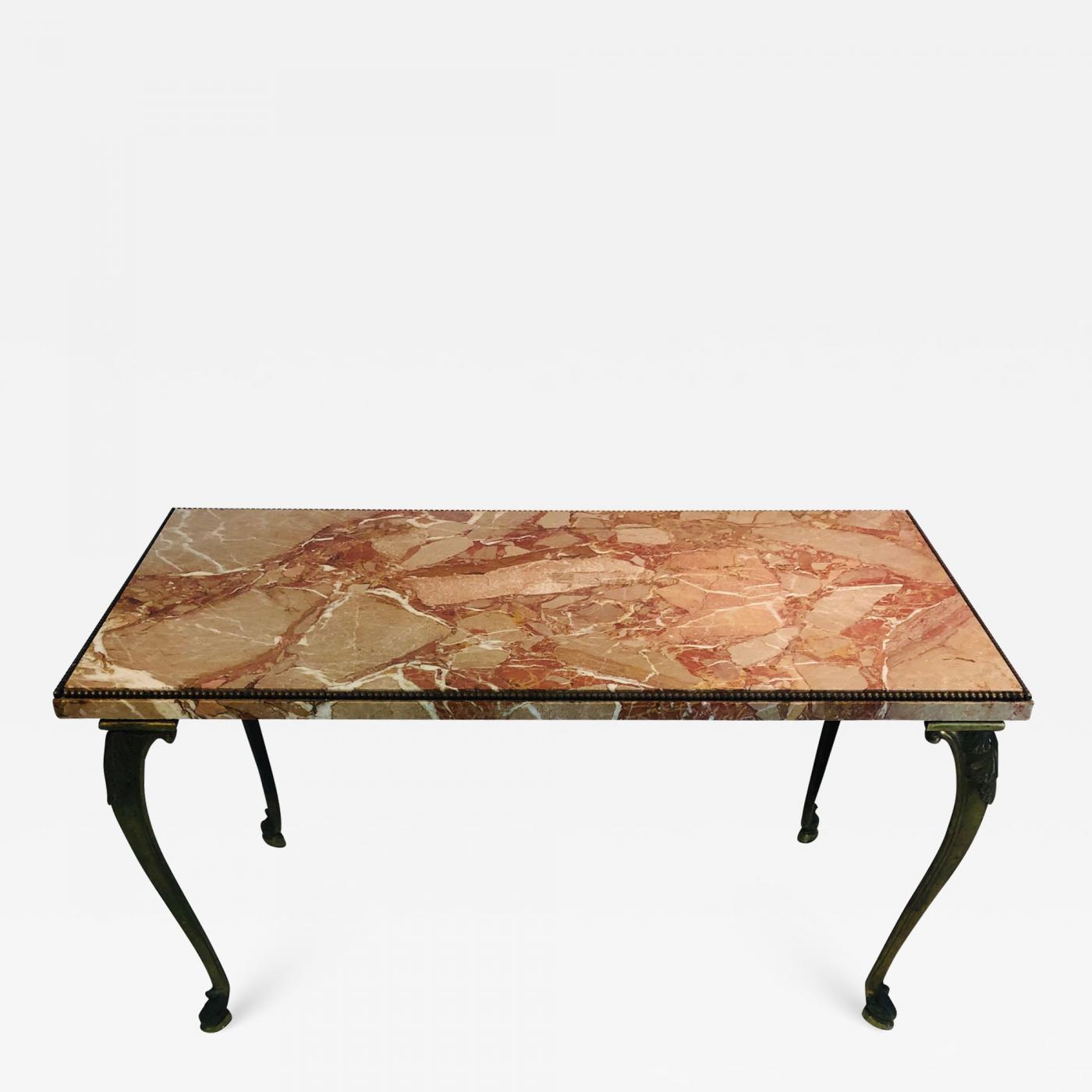 Italian Marble Top Coffee Table