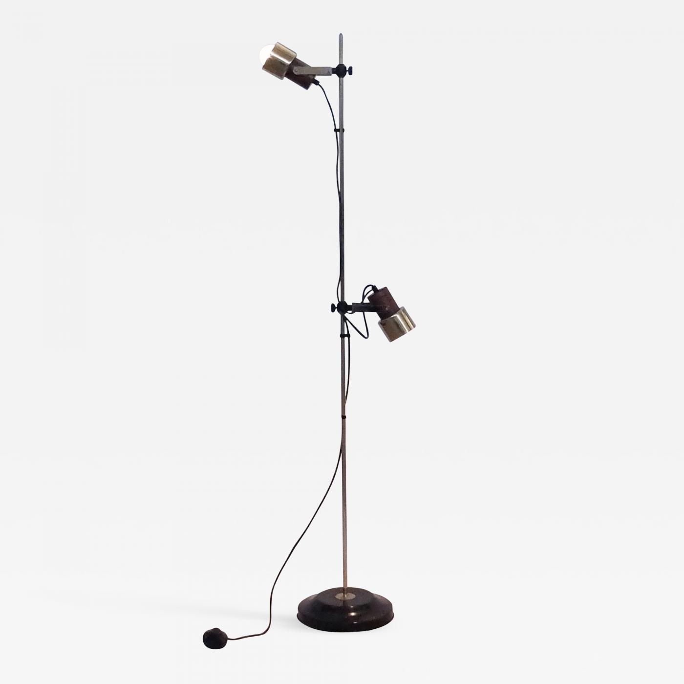Italian Mid Century Modern Floor Lamp With Adjustable Spotlights From The 1950s