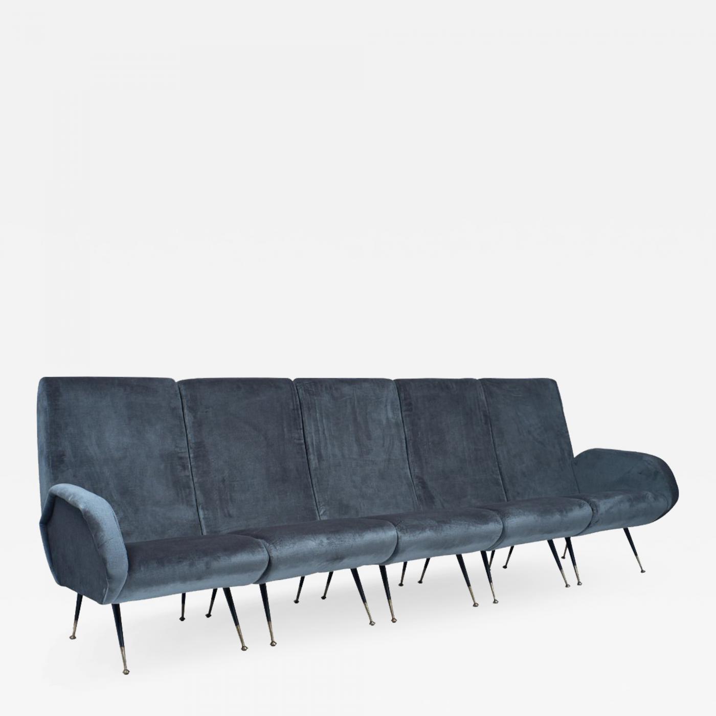 Italian Mid-Century Sectional Sofa