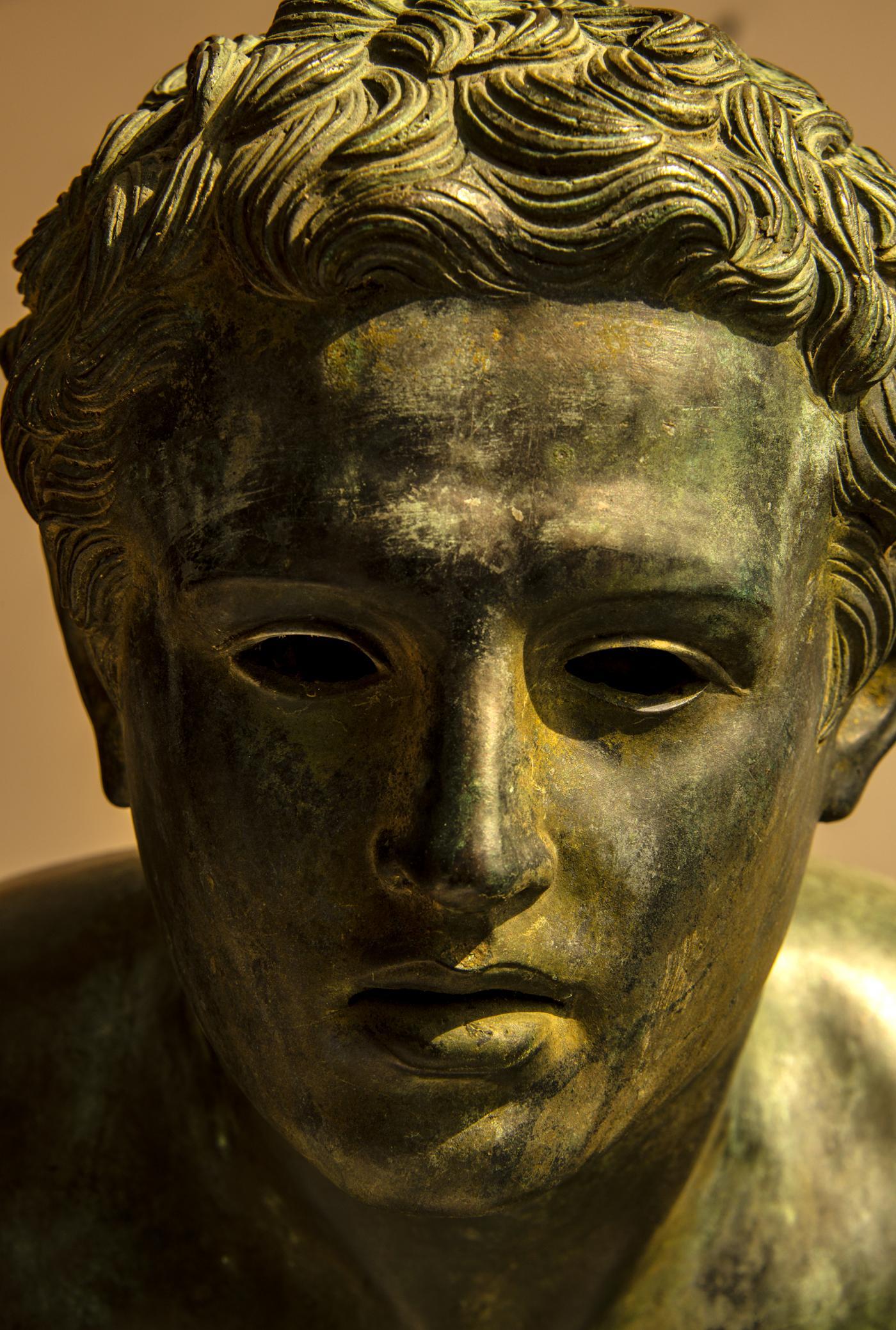 Italian School - Nude Male Runner Classical Bronze After