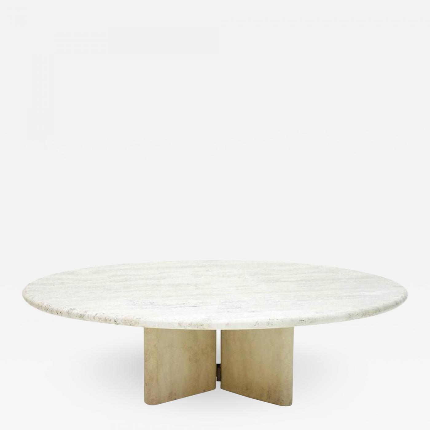 italian travertine coffee table 1970s