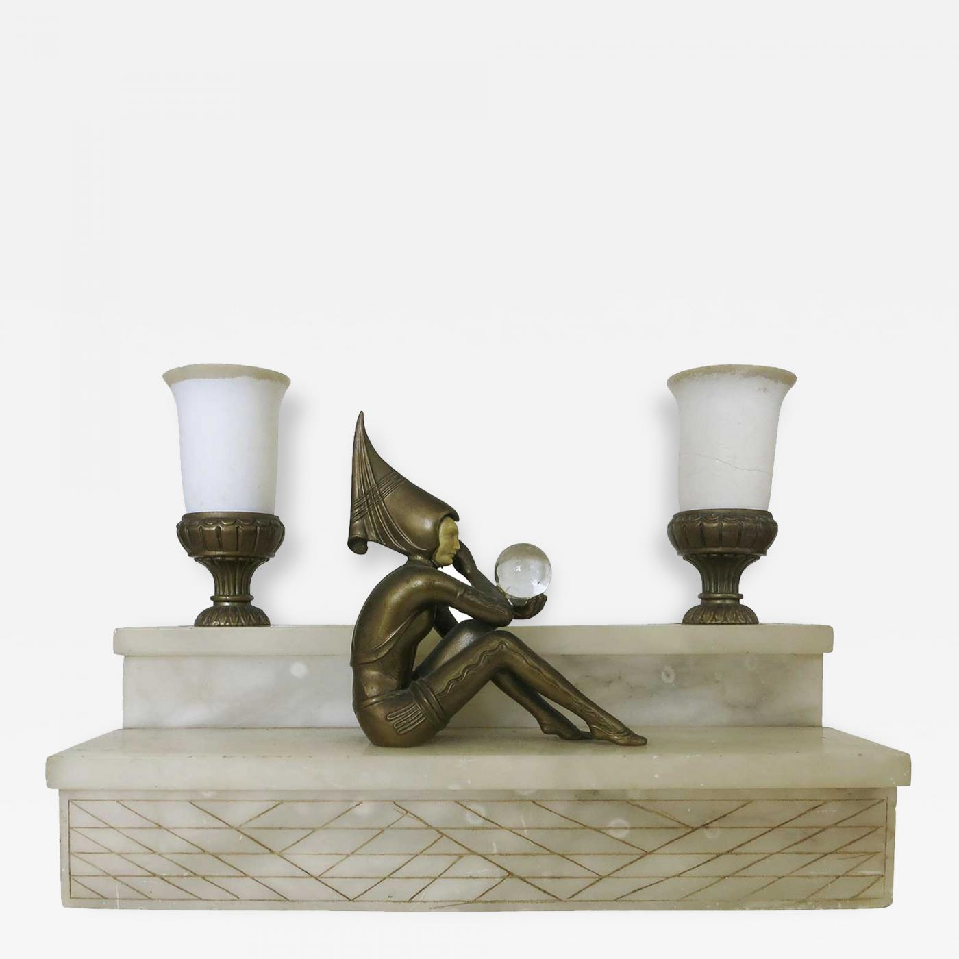 harlequin lighting hurricane lamp listings furniture lighting table lamps jb hirsch large stepped art deco harlequin lamp by