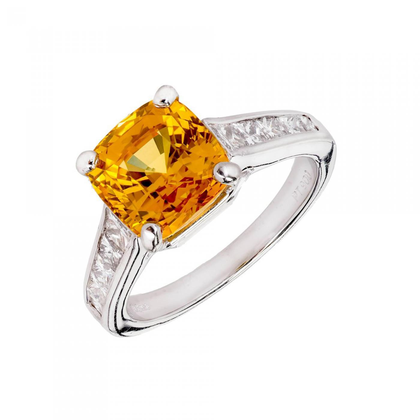 emerald citrine set diamond cut in amber white and rings gold image engagement ring