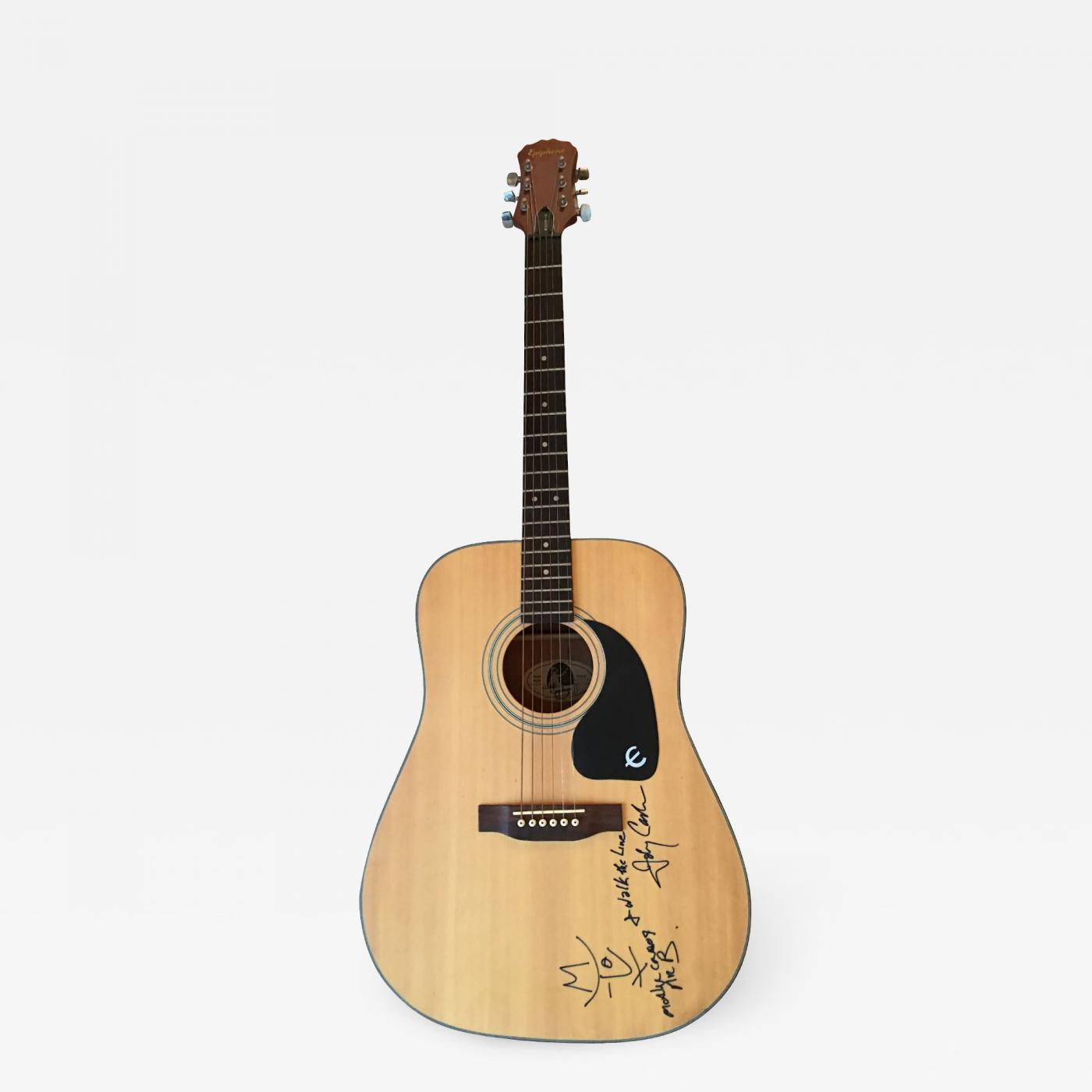 gibson johnny cash and bono autographed acoustic gibson guitar. Black Bedroom Furniture Sets. Home Design Ideas