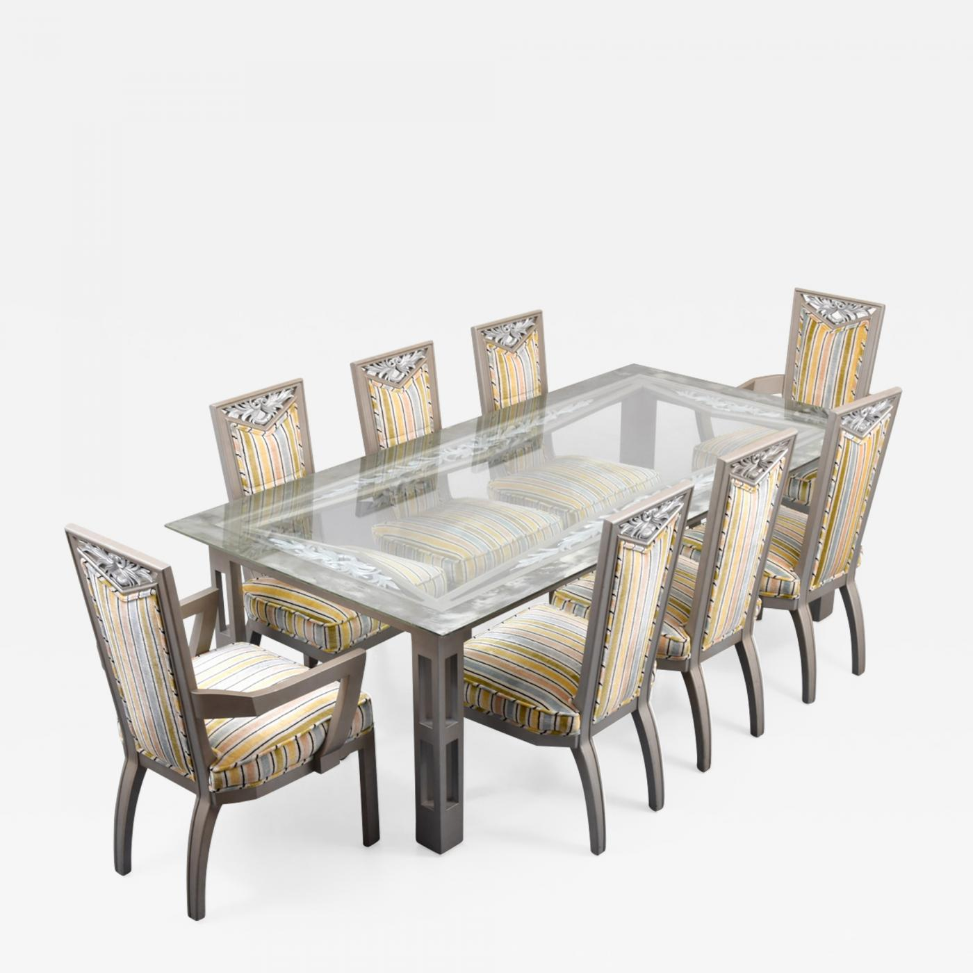 James Mont James Mont Dining Table 8 Chairs