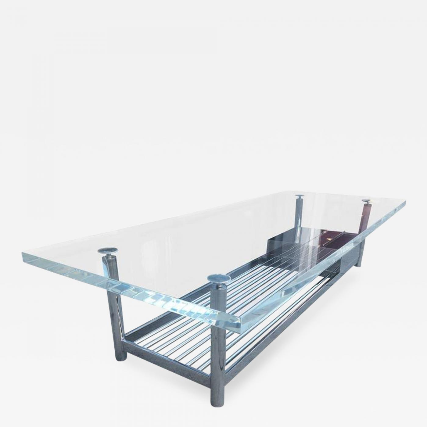 Jane D Blake Limited Edition Marion Coffee Table In Stainless Steel And Lucite By J Blake
