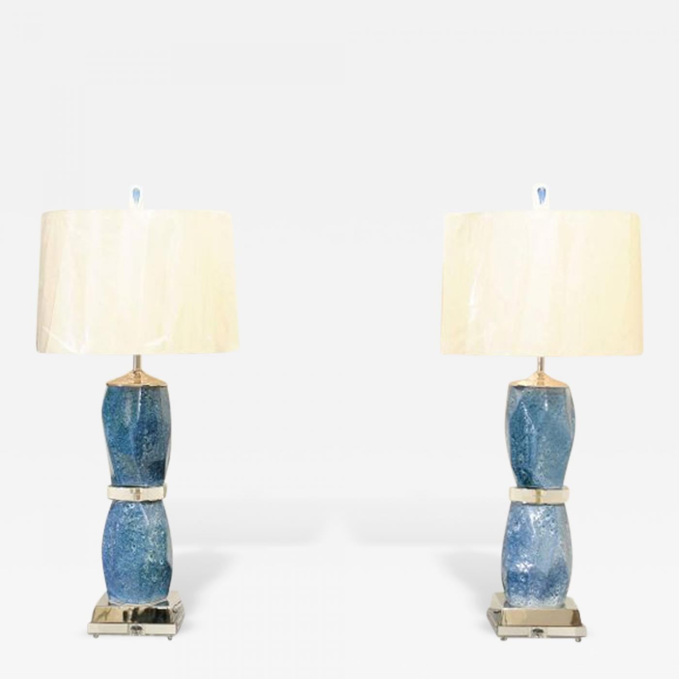Jaw dropping pair of handmade portuguese ceramic vessels as custom listings furniture lighting table lamps geotapseo Choice Image
