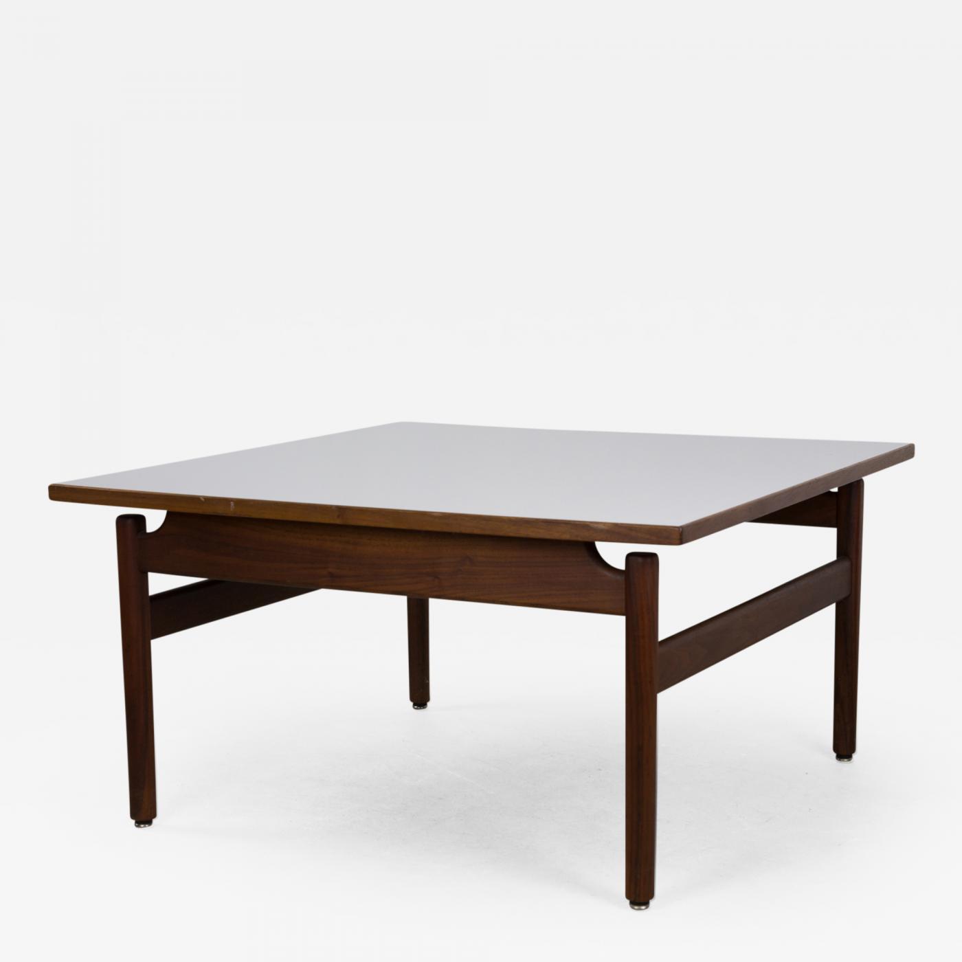 Jens Risom Jens Risom Walnut And Laminate Coffee Table